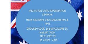 Migration Guru Hobart Seminar